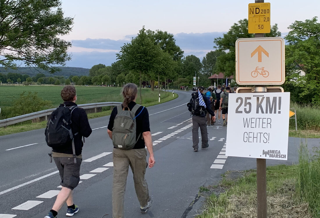 25 Km Richtung Hameln