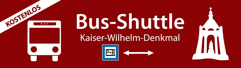 Banner Shuttle Kaiser-Wilhelm-Denkmal