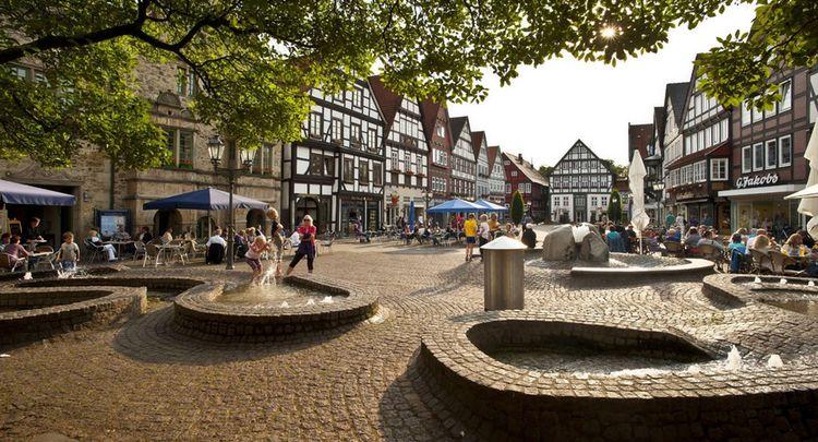 Brunnen Auf Dem Marktplatz Rinteln