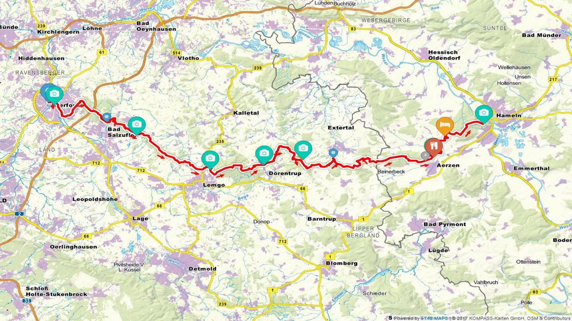 Hansaweg Streckenverlauf