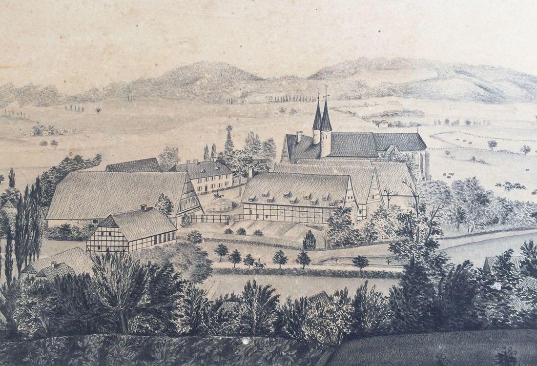 Historische Ansicht Kloster Moellenbeck