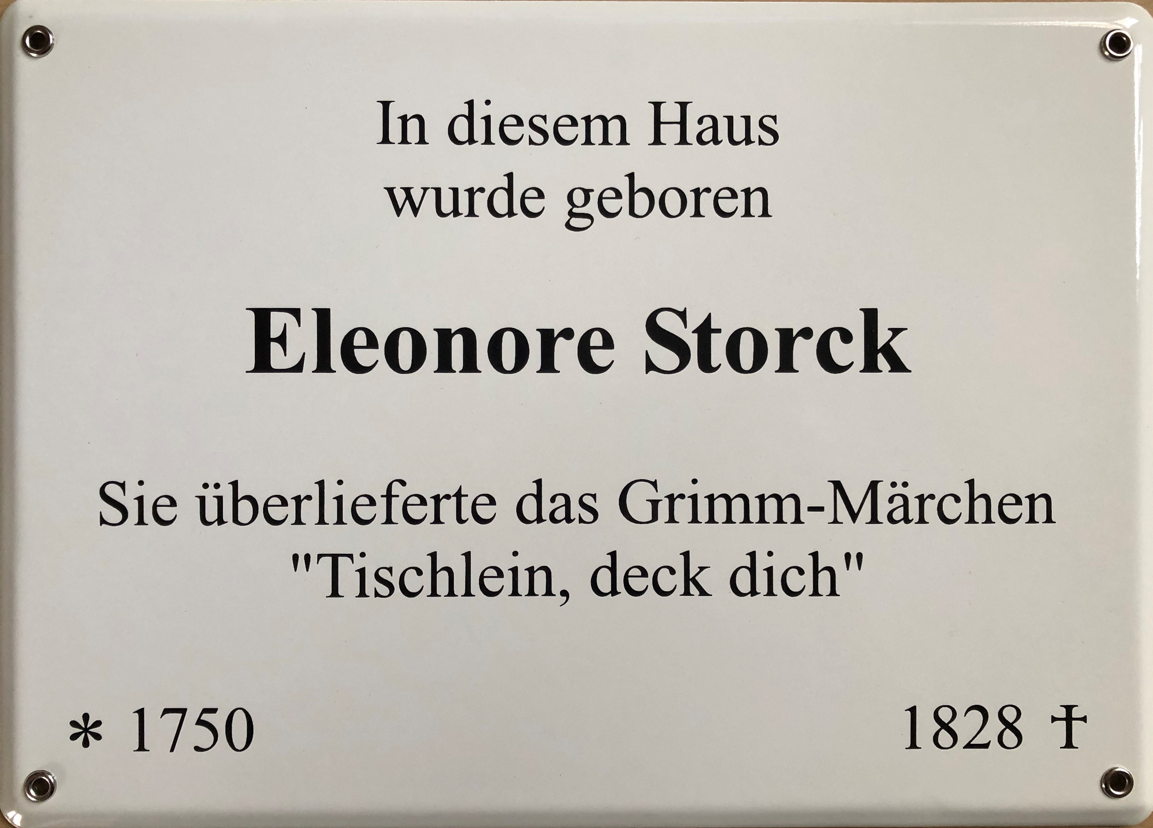 Gedenktafel Eleonore Storck