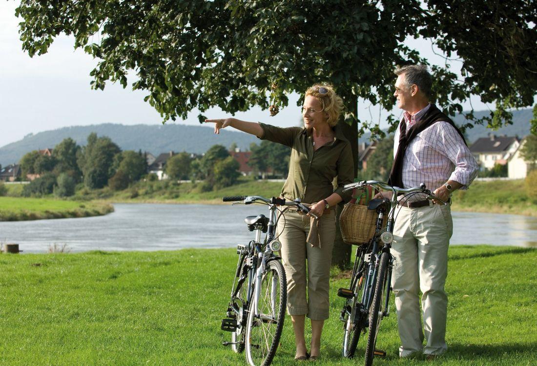 Radfahren Am Weser Radweg