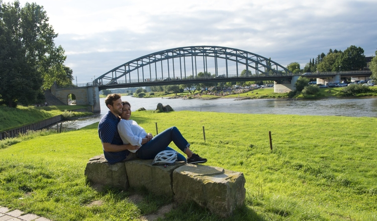 Rinteln Paerchen Weser